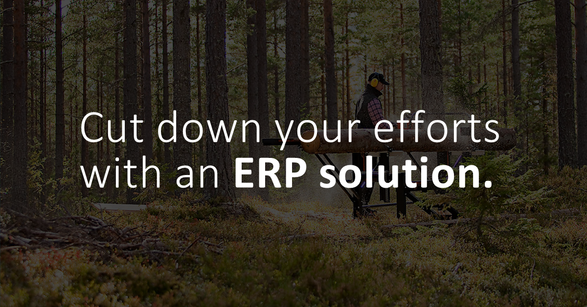 Cut down your efforts with an ERP solution